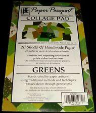 "Provo Craft Paper Pad Passport Greens 20 Sheets Handmade 5.5"" x 8.5"""