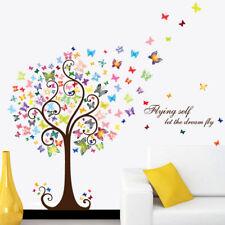 Wandtattoo Wandsticker Kleber Entspannung Schmetterlinge Baum 98 x 130 W230