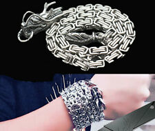EDC Tactical Steel Whip Kung Fu Bracelet Whip Necklace Waist Chain Car Pendant