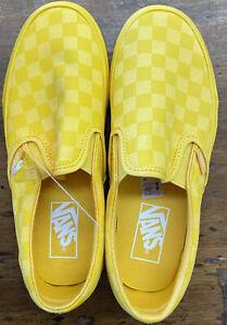 Vans Classic Slip-on Size:5.5 men, 7.0 women -unisex Yellow shoes