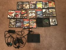 PS2 Playstation 2 Slim Console One Control Power Cord Memory Card 20 Game Bundle