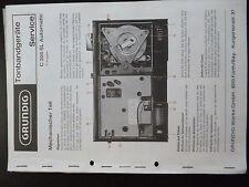 Original Grundig Tonbandgeräte Service C 200 SL Automatic