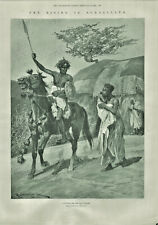 Antique B&W Illustrated Print Rising In Somaliland Recruit For Mad Mullar 1901