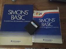 Simons Basic Book Cartridge *TESTED* and Battered Box - Commodore 64 128 CBM 64C