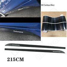 Carbon Fiber Side Skirt Door Sill Stripe Vinyl Deco Sticker for BMW 3 4 5 Series