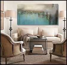 ABSTRACT Painting MODERN CANVAS WALL ART Large Framed US ELOISExxx