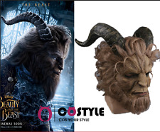 US FAST Beauty and the Beast Adam Prince Mask Cosplay Mask Latex Lion Helmet
