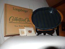 Longaberger 2004 Cc TeaTray Basket Mbshp Stripe Liner, Protective Pad, Protector