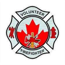 Volunteer Firefighter Canada Decal Fire Department Sticker Canadian Car  -  S 34