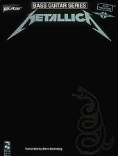 Metallica Black Authorized Bass Tab Book NEW!
