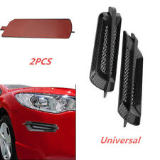 2x Carbon Fiber Auto Car Side Air Flow Vent Fender Cover Intake Grille Sticker