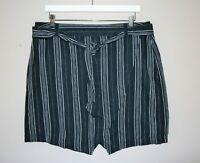 NOW Brand Navy Striped Linen Wrap Skirt Size 18 BNWT #TH77