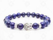 Natural Buddha Lapis Lazuli Stone Bracelet Chakra Gemstone Reiki Healing Gift UK