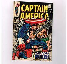 "Captain America #106 Grade 7.0 Silver Age find! ""Cap goes wild!�"