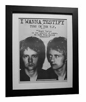 ROGER TAYLOR+QUEEN+Testify+POSTER+AD+RARE+ORIGINAL 1977+FRAMED+FAST GLOBAL SHIP