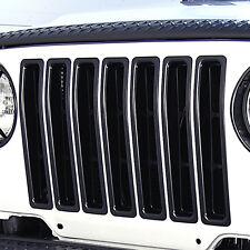 11306.03 Rugged Ridge Black Grill Inserts Jeep Wrangler TJ 1997-2006