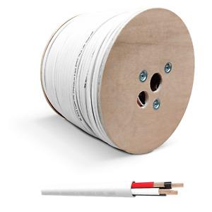 QED Flame Retardant Speaker Cable QX16/4 4-Core White - Per Metre