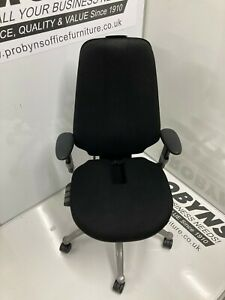 RH Logic 400 Black quality operators office chair with coccyx cut-away REDUCED