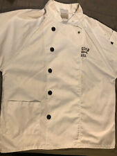 Bonefish Grill Chef Coat Uniform White Jacket Cooking Shirt Cook Size Small