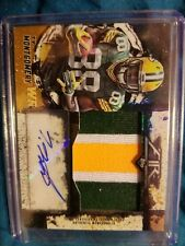 2015 topps fire 1/1 Ty montgomery rookie autograph patch card