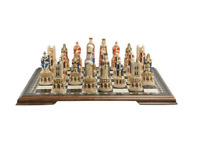 Medieval Cathedral Hand Painted Chess Set