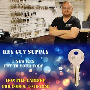 101E-225E key. 1 Key for HON File cabinet locks. cut by locksmith code 101E-225E