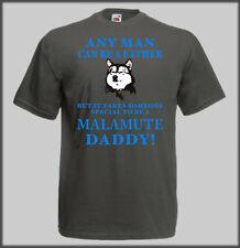 SLED DOG SPIRIT FUNNY ALASKAN MALAMUTE DADDY T SHIRT  MUSH MUSHING FATHER GIFT