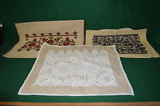 Vintage Lot of 3 Hungarian Embroidered Matyo Handmade Pillow Cases