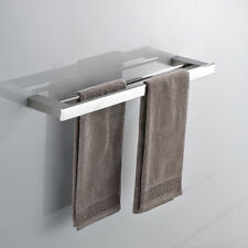 Bathroom Towel Racks Wall Mounted Stainless Steel Double Hanging Rod Accessories