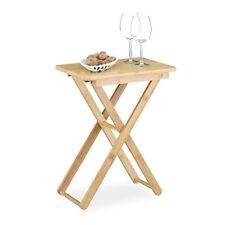 (tg. 31x40x52 Cm) Relaxdays Tavolino pieghevole da salotto giardino in Bambù