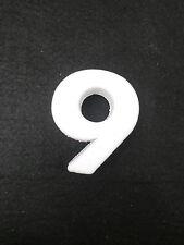 """NUMERO NUMERI CIFRA CIFRE POLISTIROLO DA DECORARE """"9"""""""