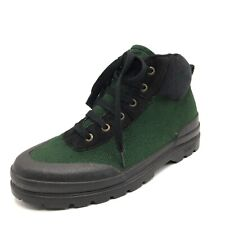 Guess Vintage Canvas Boots 80s 90s Womens Size 9 Green Black High Top Festival