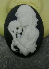 Day of the Dead cameo silicone push mold mould sugar craft resin Wax food safe