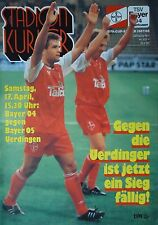 Programm 1992/93 Bayer 04 Leverkusen - Bayer Uerdingen