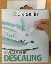 BRABANTIA DESCALING SET 6 VIALS FOR STEAMS IRONS/GENERATORS KETTLES COFFEEMAKER