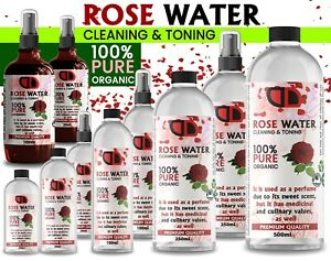 100% Pure Natural Organic Rose Water Toner Cleanser, Moisturiser For Fresh Face