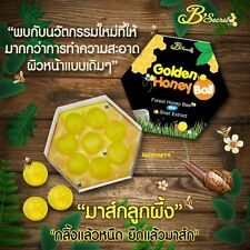 NEW Golden Honey Bee Ball Soap Mask 2in 1 Plus Snail Extract