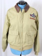 Avirex Type A-2 Rare Air Force USAF Top Gun Bomber Flight Jacket Coat Men's XL