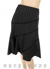 Jupe genoux JENNYFER T. 38 M 2 Noir dentelle asymétrique rayure Skirt rock falda