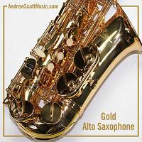 New Gold Alto Saxophone in Case - Masterpiece
