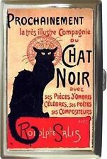 CHAT/ CAT NOIR FRENCH ART NOUVEAU CIGARETTE MONEY CASE