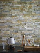 Oyster Colour Slate Split Face Mosaic Tile Rock Panels - 3D Wall Cladding - m2