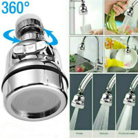 360 Degree Rotating Faucet Movable Kitchen Tap Head Water Saving Nozzle Sprayer^