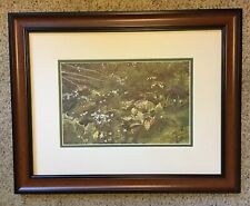 Andrew Wyeth Quaker Ladies Matted & Framed Print 1961~Nice mid-size print!