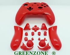 Red Solid Xbox One Controller Full Replacement Shell Mod Kit + Buttons