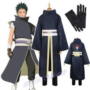 Akatsuki Ninja Tobi Obito Madara Uchiha Suit Cloak Uniform Cosplay Costume A622