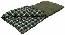 Sleeping Bag Rugged Cotton Canvas Outer and Flannel Liner 2 Layer Construction