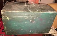 Wonderful Antique Document Box Old Dry Paint 19th Century Dovetailed Trunk AAFA