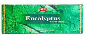 Hem Incense Sticks Eucalyptus Bulk 120 Stick for Cleansing Spiritual Blessings