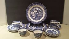 "Woods Ware Wood & Son ""Blue willow"" 20 Piece Dish Set (4) 5 piece settings"